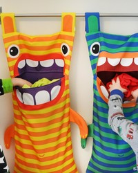 The Monster Ate My Laundry! An Awesome Hamper Every Kid's Room Needs