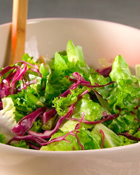 Chicory, Red Cabbage, and Escarole Salad