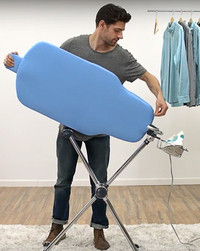 Get Rid of Wrinkles Faster With a Double-Sided Ironing Board