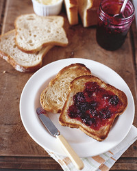 blackberry jam on toast
