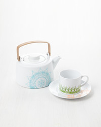 Painted Tea Cup Set