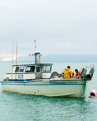 At Home on the Water, That's Our Favorite Salmon Fishing Couple