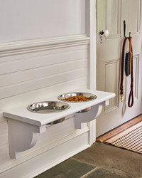 See What Can Be Repurposed Into a Dog Feeding Station