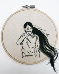 Who Knew? This Fashion Model is a Secret Embroidery Artist