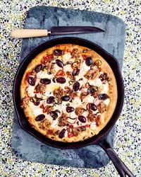 skillet pizza diavola