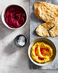 beet and tahini dip