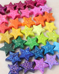 Kids Will Love Coloring With These Star-Shaped Glitter Crayons