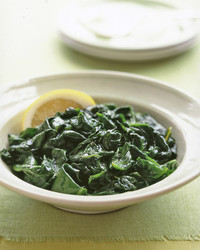 Steamed Spinach with Lemon