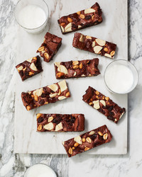 big-batch triple-chocolate brownie bars