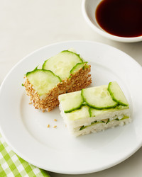 Radish and Cucumber Danish Sandwiches