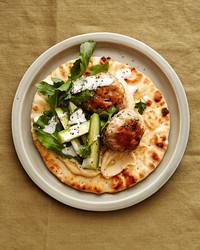 greek turkey burgers recipe plate