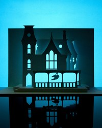 Cut and Fold a Spooky 3-D Haunted House for Halloween