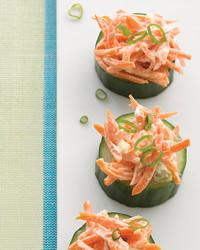 cucumber carrot bites