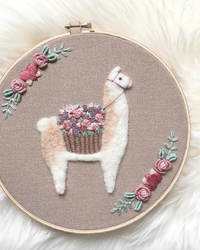 Llamas and Flowers Come Together in Soft-to-the-Touch Wool Embroidery
