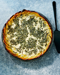potato-crusted herb quiche
