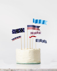 Miniature American Flag Toppers
