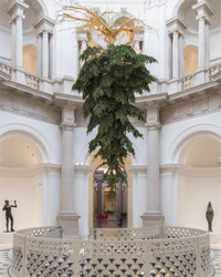 Tate Britain's Christmas Tree is Upside Down for a Special Reason