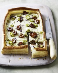 date olive goat cheese tart