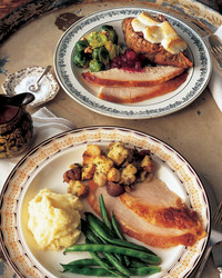 A Classic Thanksgiving Dinner Menu with Turkey and All the Trimmings