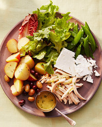 spring chicken nicoise recipe plate