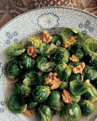 sprouts with pecans and potatoes