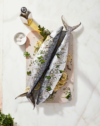 whole roasted mackerel
