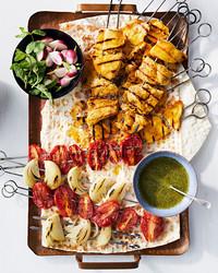 saffron chicken kebabs