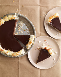 Crisp Coconut and Chocolate Pie
