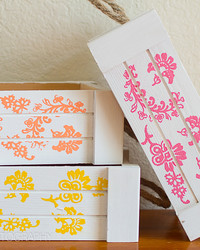 12 Months of Martha: Stenciled Wood Pallet Crates from Fancy Shanty