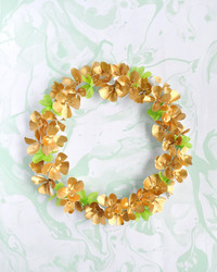 Display a Lucky Four-Leaf Clover Wreath for St. Patrick's Day
