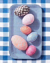 Gingham, Checks, and Stripes! Decorate Easter Eggs with Fabric Scraps