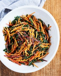 So Simple, Healthy Too, This Carrot and Kale Salad Is a Winner