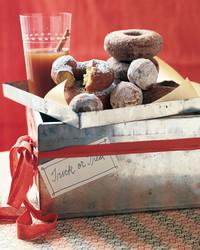 pumpkin cornmeal doughnuts