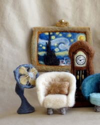 Learn How This Teeny-Tiny Furniture Was Made From Needle-Felted Wool