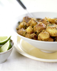 New Potatoes with Ginger and Mint