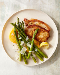 Parmesan Pork with Polenta and Asparagus