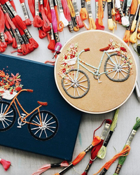 "These Embroidered Bicycles Inspire Us to ""Enjoy the Ride"" of Life"