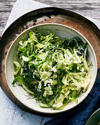 dilled cabbage and cucumber slaw