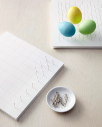 Easter Egg Drying Pin-Board