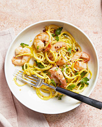 yellow squash shrimp scampi