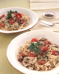 linguine with two olive tapenade