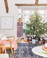Emily Henderson Goes Neutral With Her Christmas Decor