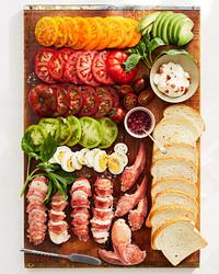 bacon lobster tomato sandwiches