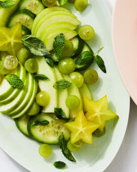 green fruit salad with lime and honey