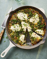 swiss-chard frittata with rye berries
