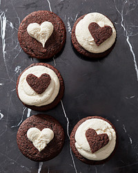 chocolate cupcakes with milk frosting