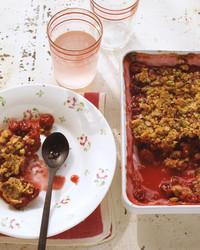 sour cherry pistachio crisp