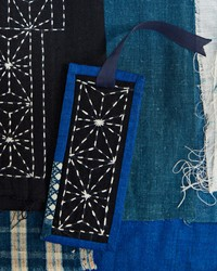 A DIY Bookmark Using the Japanese Embroidery Technique of Sashiko