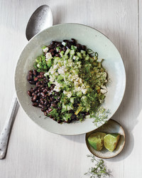 black bean cucumber and feta salad