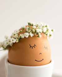 Just in Time for Easter! Floral Wreath Eggs